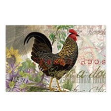 Vintage Rooster French Collage Postcards (Package