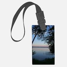 sunset lake Luggage Tag