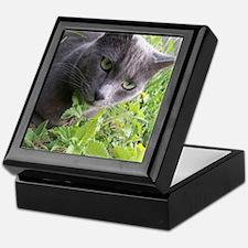 Garden Cat Keepsake Box