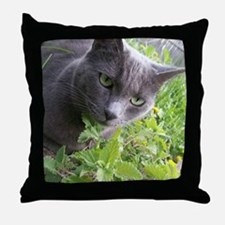 Garden Cat Throw Pillow