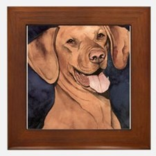 Vizsla Framed Tile