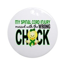 Spinal Cord Injury WrongChick1 Ornament (Round)