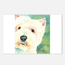 Westie Postcards (Package of 8)