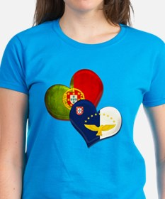 Portugal and Azores hearts Tee