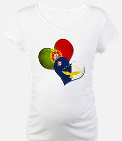 Portugal and Azores hearts Shirt