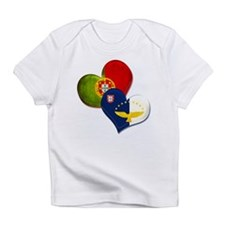 Portugal and Azores hearts Infant T-Shirt