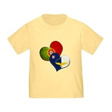 Portugal and Azores hearts T