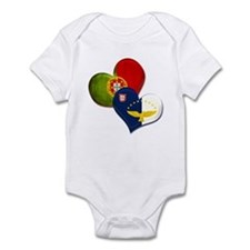 Portugal and Azores hearts Infant Bodysuit