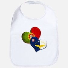Portugal and Azores hearts Bib