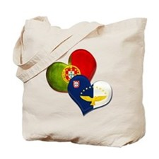Portugal and Azores hearts Tote Bag
