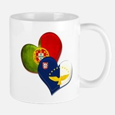 Portugal and Azores hearts Mug