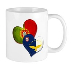Portugal and Azores hearts Mug