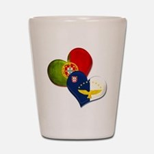 Portugal and Azores hearts Shot Glass