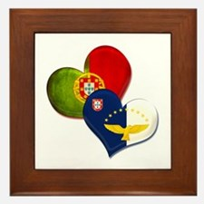 Portugal and Azores hearts Framed Tile