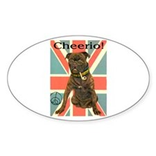 CHEERIO! Oval Decal