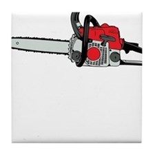 Chainsaw Tile Coaster