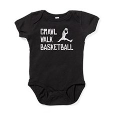 Crawl Walk Basketball Baby Bodysuit
