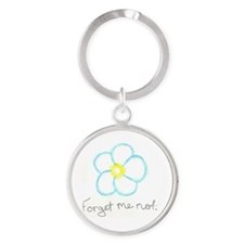 Forget me not. Round Keychain
