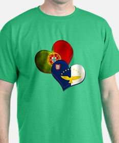 Portugal and Azores hearts T-Shirt