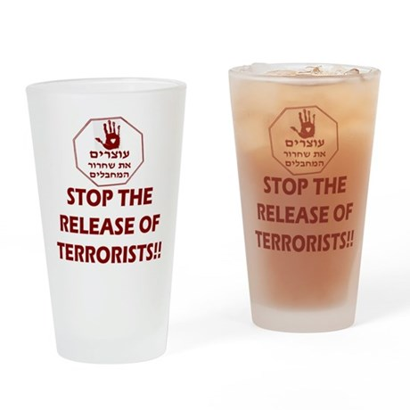 STOP Terrorist Releases Drinking Glass