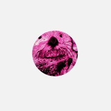 Pink Sea Otter Mini Button