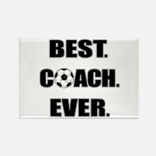 Best. Coach. Ever. Black Rectangle Magnet