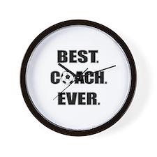 Best. Coach. Ever. Black Wall Clock