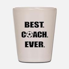 Best. Coach. Ever. Black Shot Glass