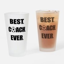 Best. Coach. Ever. Black Drinking Glass
