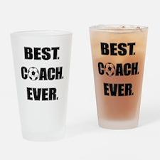 Best. Coach. Ever. Black Drinking Glass