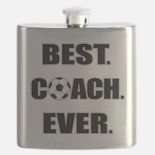 Best. Coach. Ever. Black Flask