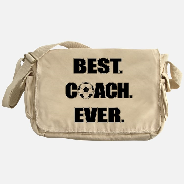 Best. Coach. Ever. Black Messenger Bag