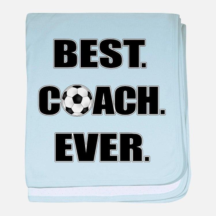Best. Coach. Ever. Black baby blanket