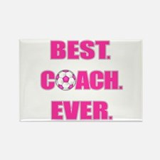 Best. Coach. Ever. Pink Rectangle Magnet