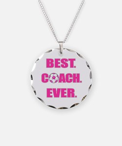 Best. Coach. Ever. Pink Necklace