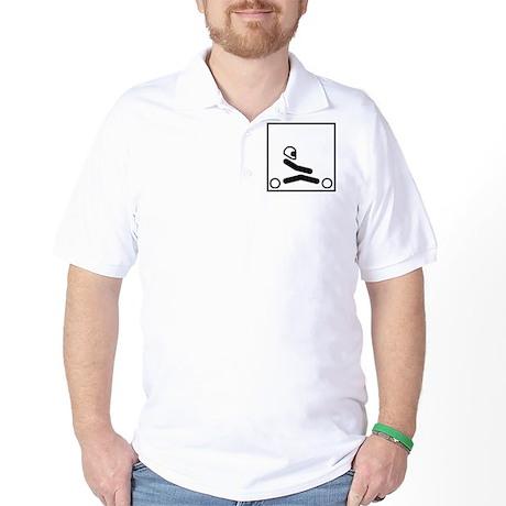 Go Kart Stick Figure Golf Shirt