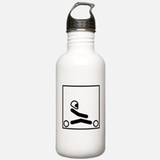 Go Kart Stick Figure Water Bottle