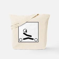 Go Kart Stick Figure Tote Bag