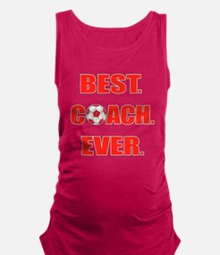 Best. Coach. Ever. Red Maternity Tank Top