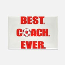 Best. Coach. Ever. Red Rectangle Magnet