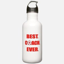 Best. Coach. Ever. Red Water Bottle