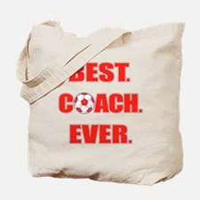 Best. Coach. Ever. Red Tote Bag