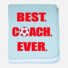 Best. Coach. Ever. Red baby blanket