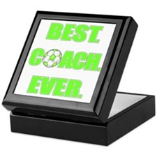 Best. Coach. Ever. Green Keepsake Box