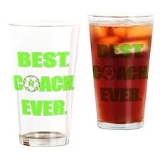 Best. Coach. Ever. Green Drinking Glass