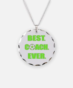 Best. Coach. Ever. Green Necklace