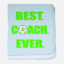 Best. Coach. Ever. Green baby blanket