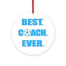 Best. Coach. Ever. Blue Ornament (Round)