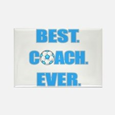 Best. Coach. Ever. Blue Rectangle Magnet
