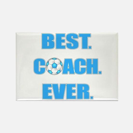 Best. Coach. Ever. Blue Rectangle Magnet